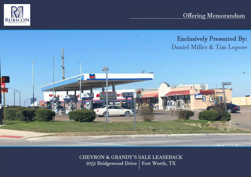 JUST LISTED: Chevron & Grandy's Sale Leaseback | Hwy 820 and 30 | Fort Worth|